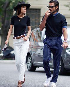 Patricia Manfield e Giotto Calendoli fashion couple