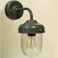 Exterior Metal Stable Wall Light in Charcoal