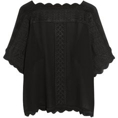 Axel embroidered georgette top Étoile Isabel Marant, Black, Women's,... (£275) ❤ liked on Polyvore