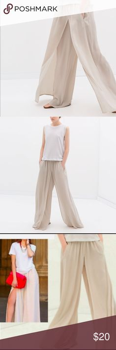 Layered Palazzo Trousers Size small. Worn but in perfect condition. Zara Pants