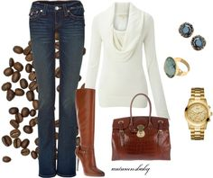 """""""Cognac & Coffee"""" by autumnsbaby ❤ liked on Polyvore"""