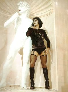 Rocky Horror Picture Show - I don't dig the movie (sacrilege, I know) but how can I not love a boy who rocks thigh-highs? Rocky Horror Show, The Rocky Horror Picture Show, Horror Themes, Cinema, Fandom, Great Movies, Movies Showing, Film Movie, Actors & Actresses