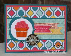 Quartrefancy Specialty Designer Paper. Banner Greetings stamp set. Stampin Anne