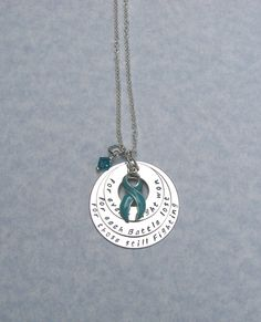 Ovarian Cancer Awareness Support Necklace