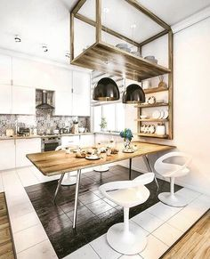 Cozy kitchen idea - cool combination of materials #cool #amazing #beautiful #awesome #chill #relax #omg #loft #musthave #sunshine #happy #photooftheday #house #industrial #industrialdesign #loftspiration #inspiration #instadaily #design #interior #inter