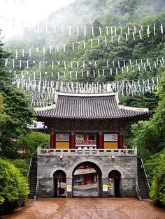 temple gate in Tibet