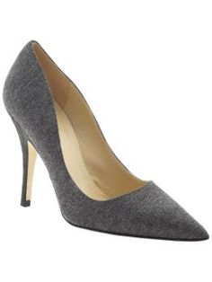 I love these gray flannel heels!