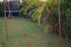 How to Make a Spider Web Obstacle Course | Wildlife Fun 4 Kids