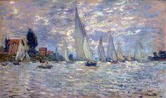 les Barques by Monet
