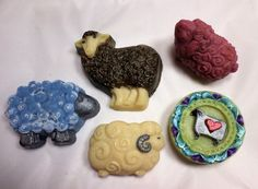 Sheep Lovers Soap Gift Set Soap Making Process, Cold Process Soap, Dark Stains, Bar Soap, Soaps, Sheep, Lovers, Hand Painted, Gifts