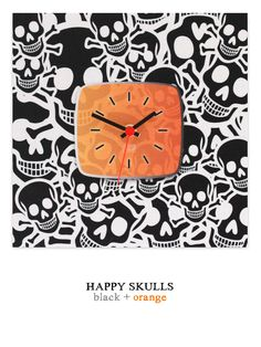 Happy Skulls black/orange