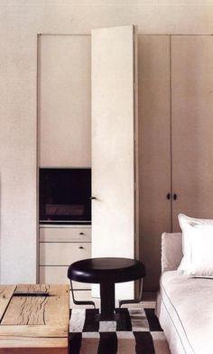 Architect Visit: Vincent Van Duysen : Poederroze en zwart. Het mag eens iets anders zijn.