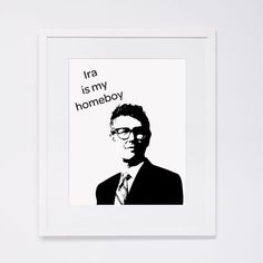 $3 of this print goes to TAL!!  Ira is my homeboy  8 x 10 art print Ira Glass fan print by 4four, $18.00