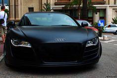 Flat black Audi