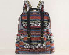 Tribal Backpack Aztec Mexican American Native Travel by TaTonYon, $39.00