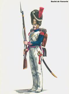 Granatiere del 4 rgt. di fanteria della linea del ducato di Varsavia, 1807-15
