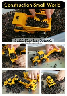 Construction Truck Small World Play with Toddler/Baby Safe Filler from Still Playing School