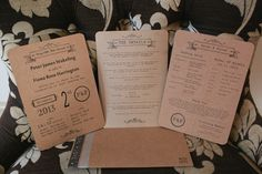 Chic Stylish Surrey Wedding Brown Paper Stationery http://www.tarahcoonan.com/