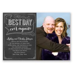 Chalkboard Charm Vow Renewal Invitation at Ann's Bridal Bargains
