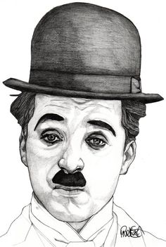 Charlie Chaplin - Original Signed Paul Nelson-Esch Drawing Art Pencil Illustration Fashion Home Decor Decoration House Interior Xmas Comedy by PaulNelsonEschArt on Etsy Dark Art Drawings, Art Drawings Sketches Simple, Portrait Sketches, Graphite Drawings, Pencil Art Drawings, Drawing Art, Pencil Sketch Portrait, Horse Drawings, Colour Pencil Drawing