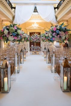 Amazing aisle from wedding at Hedsor with the team at Cranberry Blue. Photography by Pippa MacKenzie Photography.
