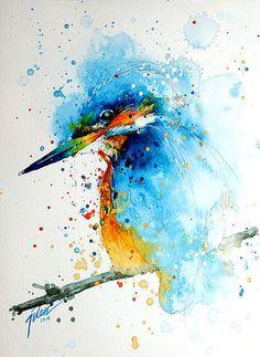 flying kingfisher acrylic - Pesquisa Google