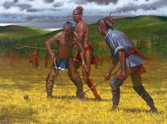 The Native Game: Lacrosse by Doug Hall *Original art by Doug Hall Native American Warrior, American Spirit, Native American Tribes, American Indians, Woodland Indians, The Sporting Life, Indian Artwork, American Frontier, Colonial America