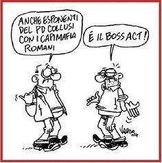 #MAFIACAPITALE, C'È ANCHE IL PD...  La mia nuova vignetta @fattoquotidiano ! 06/12/2014 http://ilfattoquotidiano.it