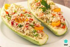 Receta de Calabacín relleno de quinoa #RecetasGratis #RecetasCocina #RecetasFáciles #Calabacín #RecetasSaludables #ComerCalabacin #CocinarCalabacin