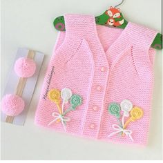 you # - 2019 Hijab Clothing Diy Crafts Knitting, Knitting Projects, Baby Vest, Baby Cardigan, Kids Knitting Patterns, Knit Baby Sweaters, Baby Winter, Kind Mode, Diy Clothes