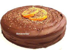 llimaverda: Tarta de naranja y chocolate#receta con naranja