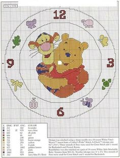 Relojes en punto de cruz | Aprender manualidades es facilisimo.com