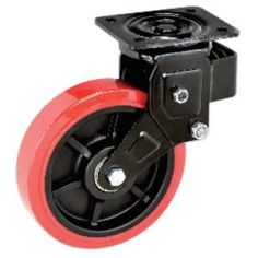 "4 Pack Rubber Swivel With Brake Castor Wheels Trolley Caster 5/"" CST0 125mm"