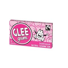 Glee Gum Chewing Gum - Bubblegum - 16 Pieces - Case Of 15