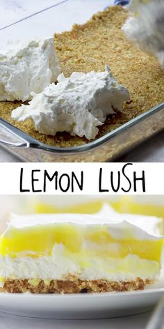 Lemon Lush Recipe, Lemon Lush Dessert, Summer Dessert Recipes, Lemon Recipes, Pineapple Dessert Recipes, Easter Recipes, Mini Desserts, Delicious Desserts, Healthy Lemon Desserts
