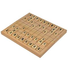 Folding Wooden Shogi Japanese Chess Set