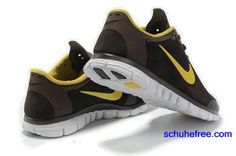 newest e358a 8a96f Damen Nike Free 3.0 V2 Anti -Pelz-Schuhe , Braun, Gelb