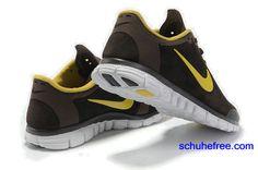 newest 9c989 35b34 Damen Nike Free 3.0 V2 Anti -Pelz-Schuhe , Braun, Gelb