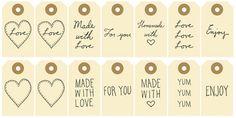 Tag, etiqueta, printable, imprimible, descarga, navidad, made with love, handmade, download