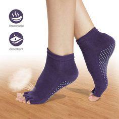 Choosing the Best Non Slip Yoga Socks Pilates Socks, Grip Socks, Martial Arts Workout, Barre, Amazon Fr, Purple, Fitness, Sports, Non Slip Socks