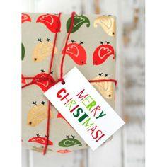 free printable christmas gift basket tags | Printable Colorful Christmas Gift Tags