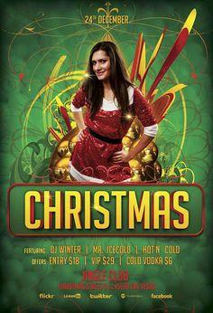 Christmas Bash Free PSD Flyer Template