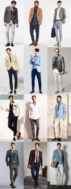 Men's Coloured Separates Outfit Inspiration Lookbook