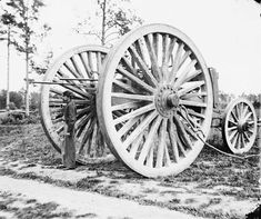 Drewry's Bluff, Virginia, sling cart used in removing captured artillery during the American Civil War, ca 1865