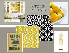 Yellow Grey And Black Kitchen