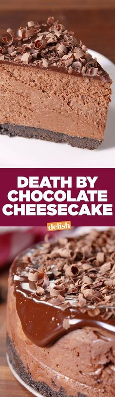 Death By Chocolate Cheesecake will be the star of every party. – Brenda Lauren Death By Chocolate Cheesecake will be the star of every party. Death By Chocolate Cheesecake will be the star of every party. Brownie Desserts, Köstliche Desserts, Chocolate Desserts, Delicious Desserts, Dessert Recipes, Yummy Food, Chocolate Chocolate, Chocolate Cheese Cakes, Death By Chocolate Cake