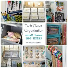 LOVE this craft room -- lots of great ideas!! Craft closet organization- small home  big ideas.