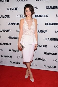 Selena Gomez in Giambattista Valli at our Women of the Year Awards