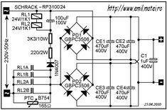 Soft Start Circuit Schematic 3 Ac Circuit, Circuit Diagram, Circuit Board, Diy Electronics, Electronics Projects, Inverter Welding Machine, Power Supply Circuit, Led Projects, Electronic Schematics