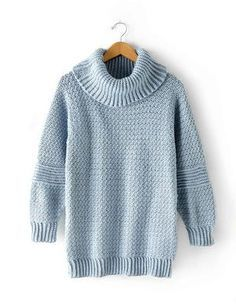 Over Easy Cowl Neck Pullover | AllFreeCrochet.com